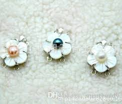 pearl necklace clasps images New fine pearl jewelry 2row findings shell flower pearl clasp jpg
