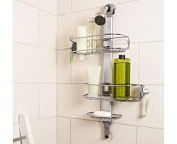 simplehuman adjustable stainless steel shower caddy organizer