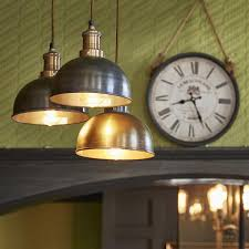 Funky Kitchen Lighting by Brooklyn Vintage Small Metal Dome Pendant Light Dark Pewter 8