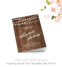 cheap ceremony programs template wedding ceremony order of service template program