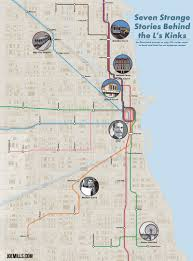 Blue Line Chicago Map by Chicago U0027l U0027 Kinks Map U2013 Joe Mills