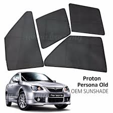 proton custom fit oem sunshades sun shades for proton persona 4pcs