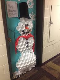 christmas snowman dorm door decoration feeling creative