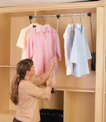 Shelf With Clothes Rod Pull Down Closet Rod 35 48 In Wide Cpdr 3548