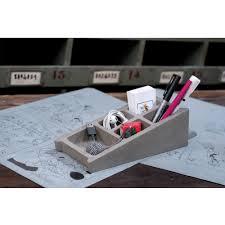 organiseur bureau organiseur de bureau en béton blockword drawer