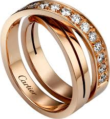 cartier alliance crb4095700 etincelle de cartier ring pink gold diamonds cartier