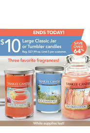 yankee candle just 10 for 3 scents large jar or tumbler candles