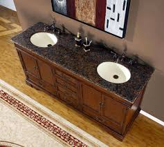 bathroom vanity with granite top u0026 porcelain sink chocolate 72