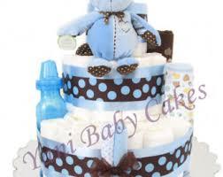 Baby Monkey Centerpieces by Monkey Diaper Cake Etsy