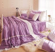 Purple Coverlets Rural Garden Quality Cotton 3pcs Children 4pcs Princess Sweet