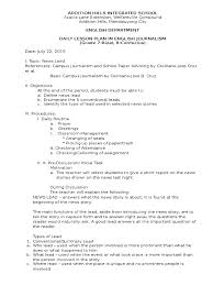 lesson plan on summary leads lesson plan journalism