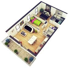 2 Bedroom Plans by Home Design 2 Bedroom House Plans Designs 3d Small Throughout 93