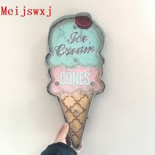 aliexpress com buy meijswxj vintage home decor ice cream led