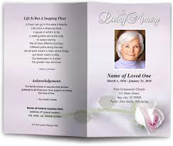 funeral booklet beloved preprinted title letter single fold program template