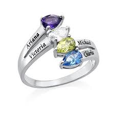 6 mothers ring ring with birthstones