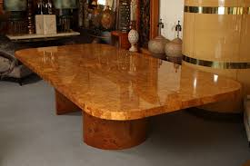 burl wood dining room table fascinating magnificent monumental burl wood dining table by steve