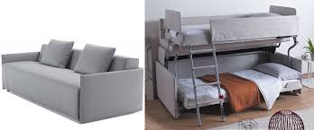 Sofa That Turns Into Bunk Beds by Nycitywoman Double Duty Space Saving Furniture