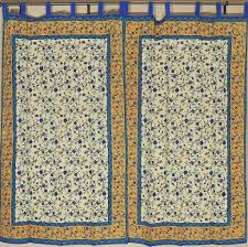 floral window treatments u2013 cream cotton indian block print panels