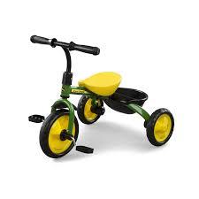 amazon com john deere steel tricycle green green toys u0026 games