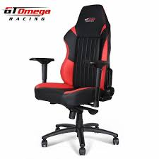 Red Leather Office Chair Gt Omega Evo Xl Racing Office Chair Black And Red Leather