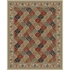 Lowes Area Rugs by Shop Style Selections Gabbett Multicolor Rectangular Indoor Woven