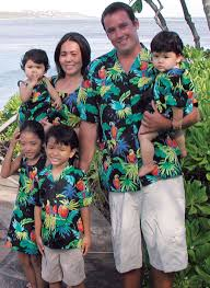 jungle parrots matching family cotton tropical print clothes