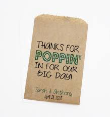 popcorn favor bags wedding favor bags popcorn bags candy bags