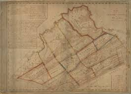 1820 Map Of United States by Pennsylvania Early Couny Map List