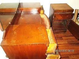 1940s Desk Vanities Vintage Wood Vanity 1940s Vanity Vintage Wood Vanity