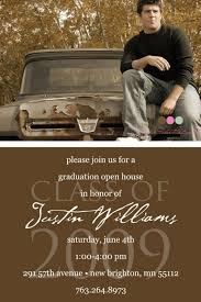 graduation open house invitation simply classic custom photo graduation open by kimnelsoncreative