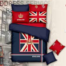 100 organic cotton american flag bedding set single queen size usa uk flag bedding kids quilt duvet blanket doona cover set in bedding sets from home
