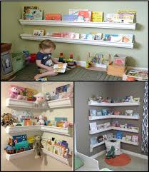 playroom shelving ideas diy playroom bookshelves made from gutters check it out