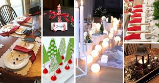 simple christmas table decorations 50 best diy christmas table decoration ideas for 2018