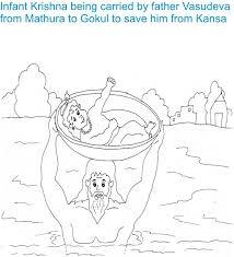 shri krishna janmashtami coloring 3 kids