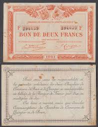 chambre de commerce brest 2 francs 1921 vf condition banknote quimper de brest ebay