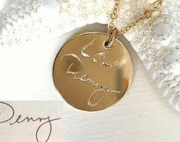 custom handwriting necklace custom handwriting necklace or bracelet actual handwriting