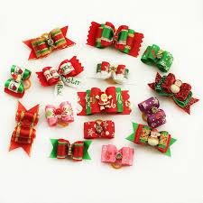 handmade christmas 10 pcs handmade christmas dog hair bows crazepets