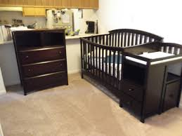 Black Baby Bed Best Solid Wood Baby Nursery Changing Table Dresser Painted With