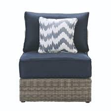 Home Decorators Collection Naples AllWeather Grey Wicker Armless - Home decorators patio furniture