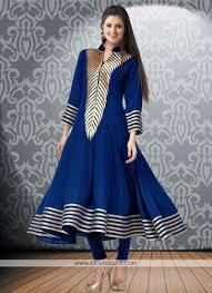 blue print work casual kurti