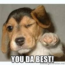 You Da Best Meme - you da best fist bump puppy meme generator