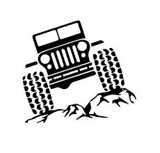 jeep decals jeep on rocks decal jeep and rocks decal by simplysmonograms