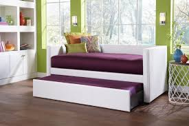 Wood Daybed With Pop Up Trundle Bedroom Furniture Bedroom Dark Brown Stained Wooden Daybed With