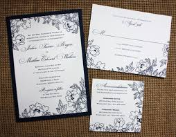 how to make a wedding invitation navy wedding invitations plumegiant