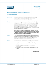 ks3 writing for purpose and audience teachit english