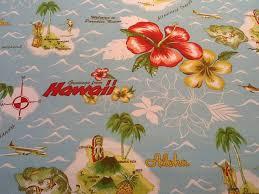 Retro Upholstery Hawaiian Print Upholstery Fabric Hawaiian Upholstery Fabric Dash