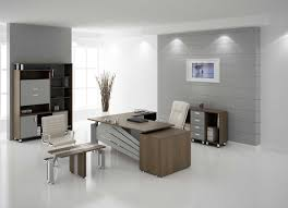 modern office table office charming modern office room interior decor with grey wall