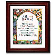 blessing for the home home blessing framed print