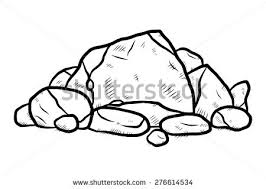 stack rocks cartoon vector illustration black stock vector