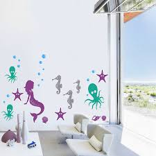 Beautiful Wall Stickers For Room Interior Design Underwater Wall Decal Home Interior Design Ideas Beautiful